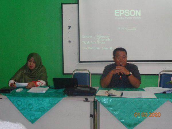 Kegiatan wawancara pihak sekolah dengan orang tua / wali murid